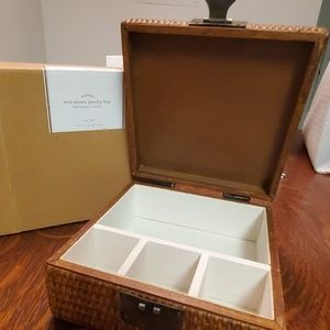 💜HOST PICK💜 NWT POTTERYBARN WOVEN JEWELRY BOX